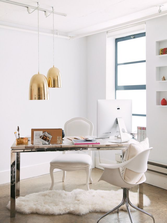 white gold home office