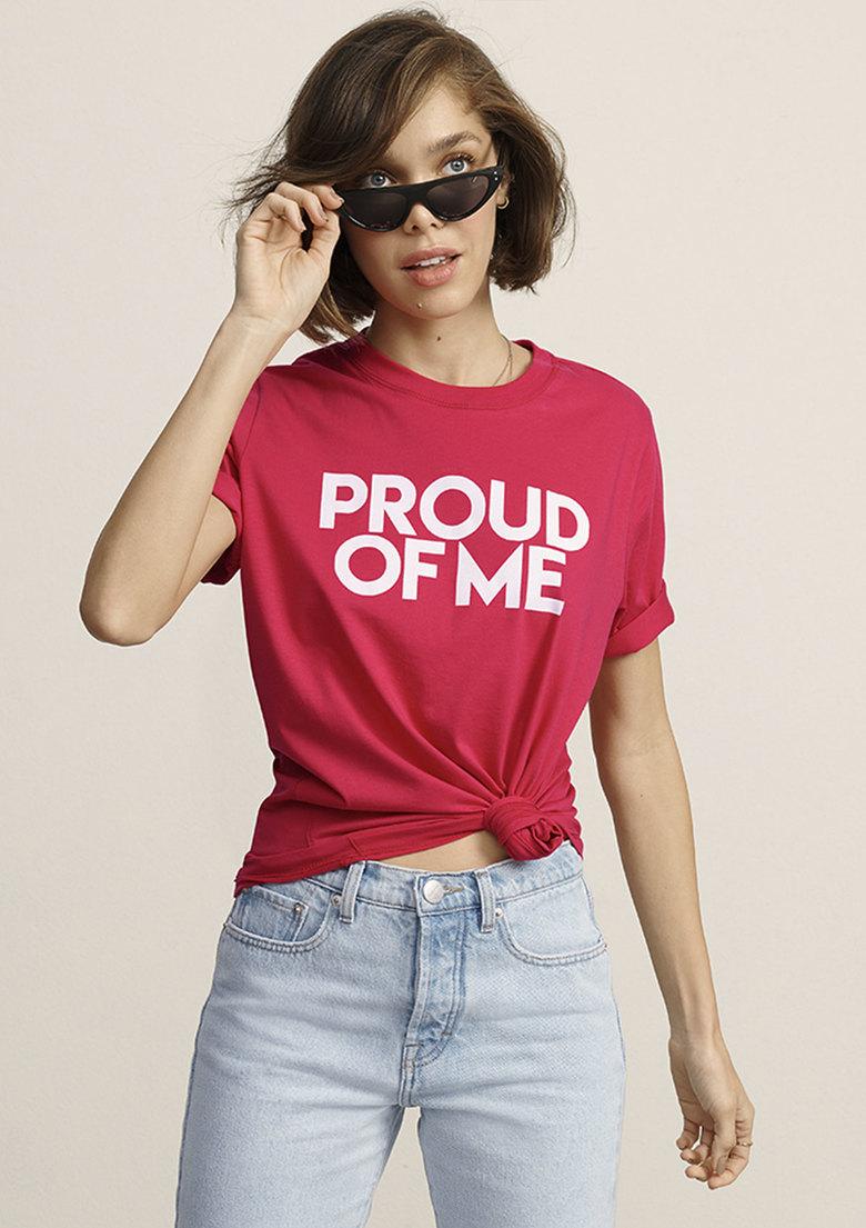Camiseta PROUD OF ME Rosa
